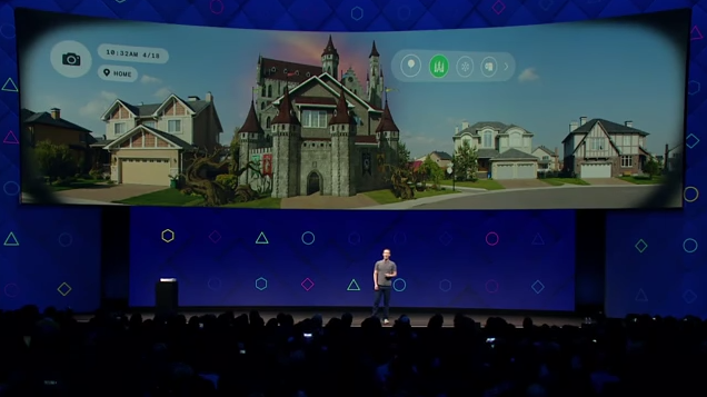 "Facebook:  ""We're making the camera the first augmented reality platform."""
